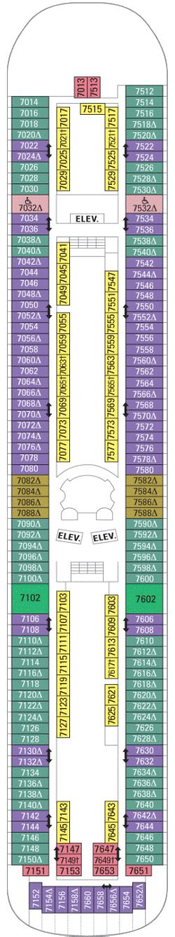 rhapsody of the seas deck plan 7 royal caribbean cruises ship rhapsody of the seas