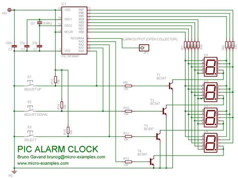 pic 16f84a 4 digets 7 segment clock