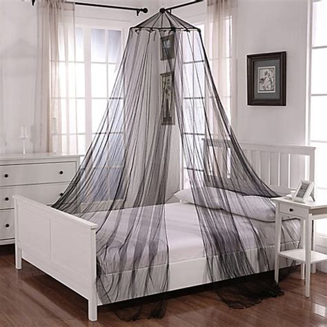 Sheer Bed Canopy Buy Oasis Hoop Sheer Bed Canopy In White From Bed Bath Beyond