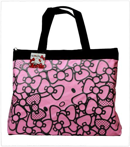 tote bag pattern with bow 18 quot hello kitty ribbon bow pattern tote bag shoulder