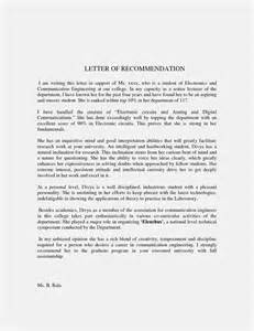 recommendation letter for student from template letter of recommendation template for studentmemo