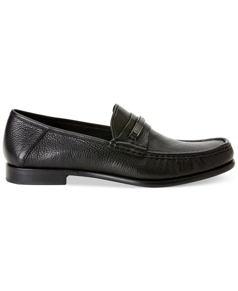 calvin klein s shoes loafers calvin klein duke bit loafers in black for lyst