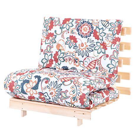 floral sofa bed floral single 2ft 6 quot 75cm futon wooden frame mattress