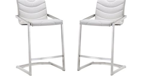 white counter height bar stools bran white counter height stools set of 2 contemporary
