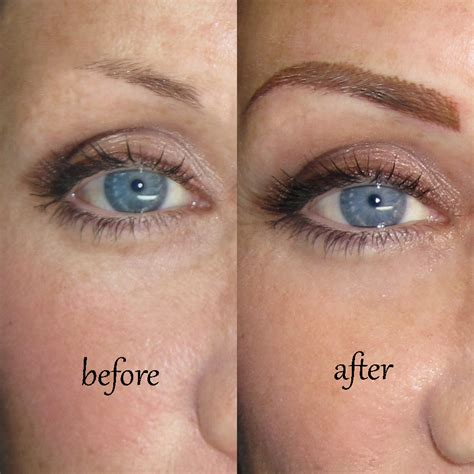 tattooed eyebrows before and after permanentbrowslosangeles