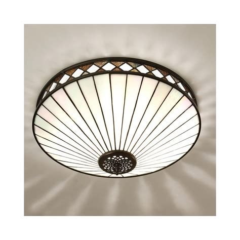 interiors 1900 64145 fargo 2 light tiffany flush ceiling light