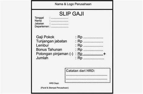 Contoh Slip Gaji Karyawan Format Word | contoh slip gaji karyawan