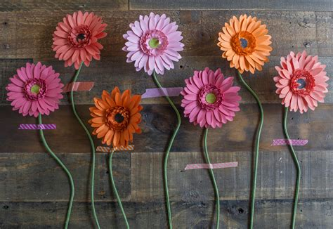 daisy paper flower pattern make your own paper gerbera daisies 183 how to make a paper