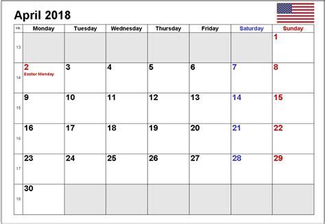 printable calendar 2018 april april 2018 calendar printable free calendar 2018