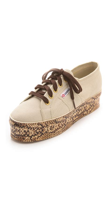 superga shoes for lyst superga viper platform sneakers in