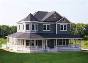 Homes With Wrap Around Porches Country Exterior Traditional Exterior Kansas City By Footprint Construction