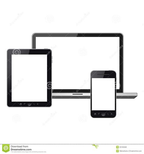 Image Search For Phones And Tablets Tablet Pc Mobile Phone And Laptop Stock Illustration Image 25100460