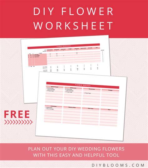 printable wedding flowers worksheet free diy flower worksheet mrs fancee