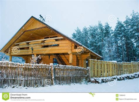 cozy little house cozy little wooden house stock photos image 7389943