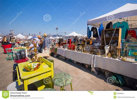 Marketplace At Garden State Park by Williamsburg Flea Market Editorial Stock Image