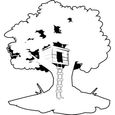 disegno casa disegno di casa sull albero da colorare per bambini