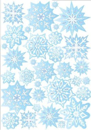 Blue Snowflake Wall Stickers snow flakes wall stickers snowflake wall decor in