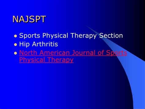 Sports Physical Therapy Section by Exploring Advances In Tha