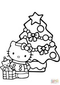 hello kitty christmas coloring page print hello kitty