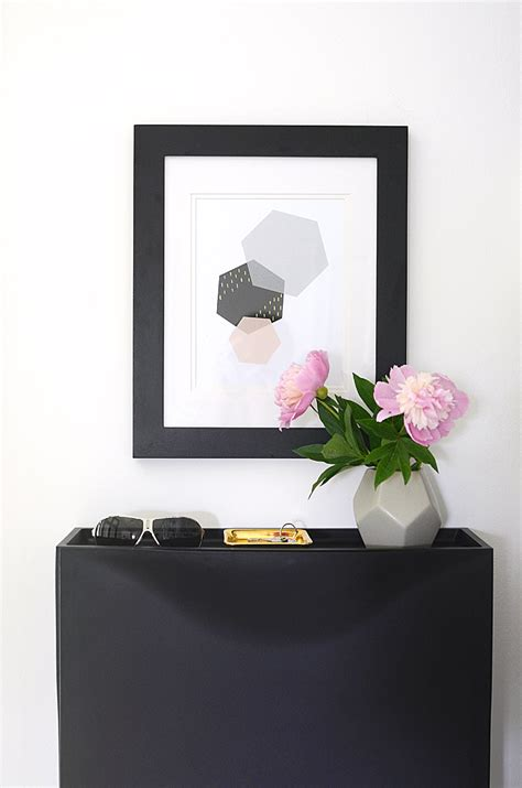 modern printable wall art nalle s house modern hexagon art free printable