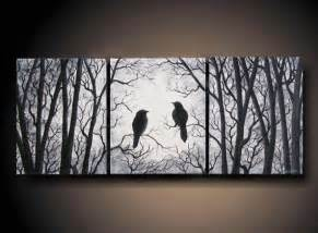 Treehouse Masters Online Free - 3 piece set wall art birds on tree three 8 quot x 10 quot piece canvas paintings spanning 24 quot long by