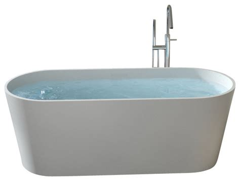 freestanding contemporary bathtubs badeloft stone resin freestanding bathtub matte modern