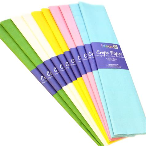 With Crepe Paper - pastel crepe paper pk10 bright ideas crafts