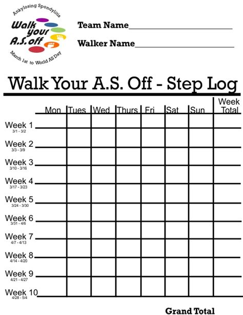 relay for walking schedule template free printable walking logs calendar template 2016
