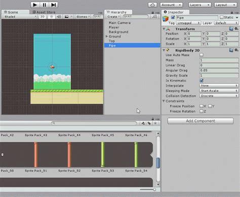 membuat game flappy bird membuat game flappy bird menggunakan unity3d part 5