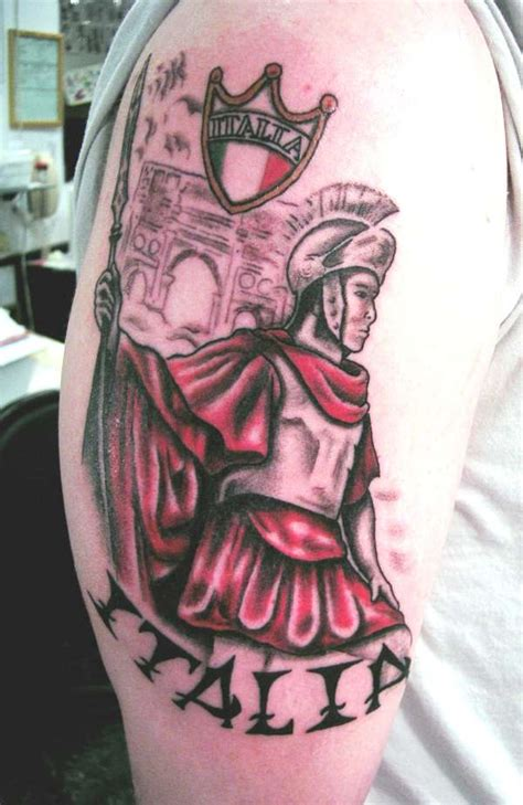 roman warrior tattoo soldier by brian at powerhouse