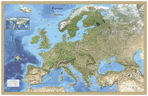 geographical map of europe europe physical atlas wall map maps