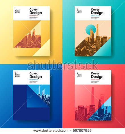 book layout free software cover book designfuture business template layout 스톡 벡터