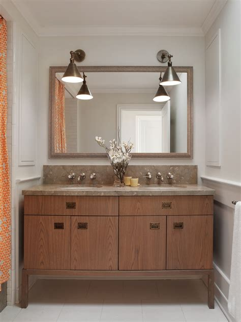 Large Bathroom Mirror Ideas by Bathroom Vanity Lighting Bathroom Contemporary With Accent
