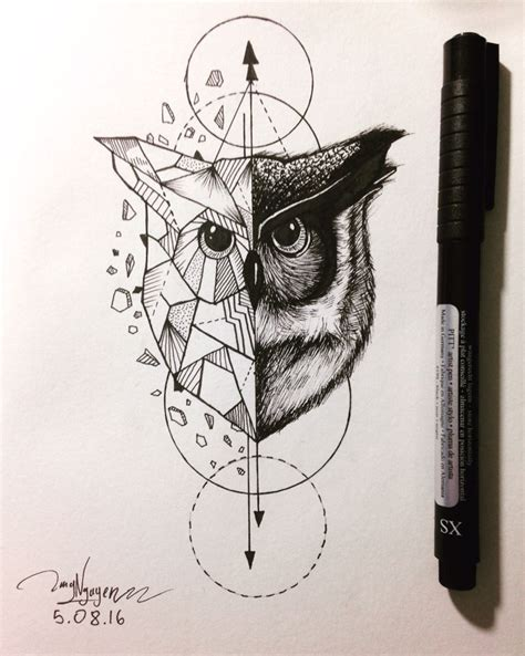 geometric tattoos animals owl geometric animal pinteres