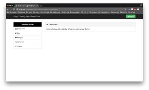 membuat multi login dengan codeigniter dan bootstrap tutorial cara membuat login session dengan codeigniter dan