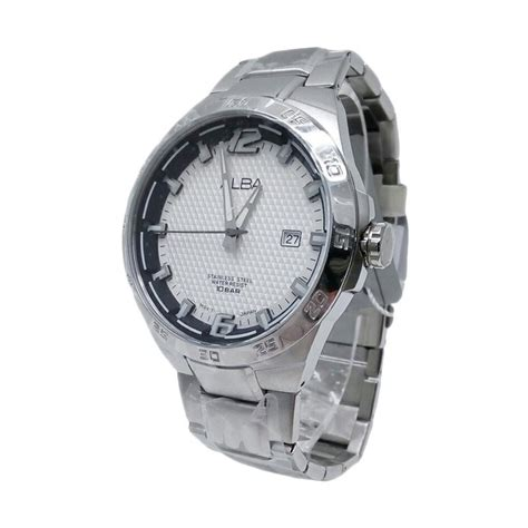 jual alba analog tali rantai jam tangan pria 161233 silver harga kualitas terjamin