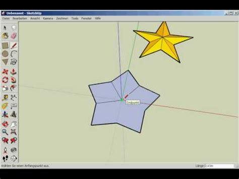 google sketchup tutorial deutsch pentagramm zeichnen geometrische figur konstruieren doovi