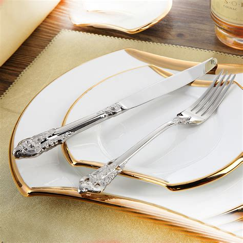 beautiful flatware stainless cutlery luxury flatware sets 24 pcs restaurant