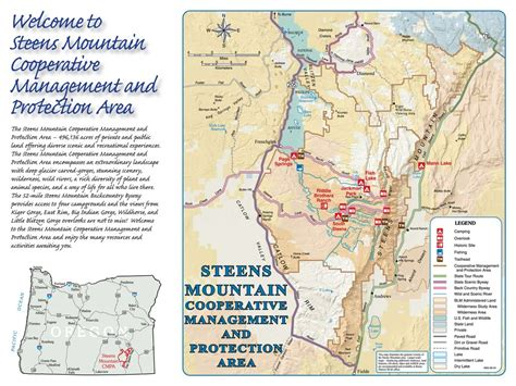 mountains oregon map steens mountain maplets