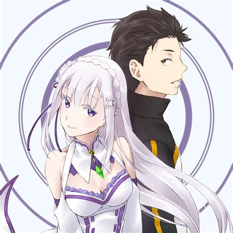 Emilia And Subaru By Sage666 On Deviantart