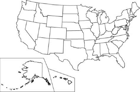 colored united states map united states coloring pages national monuments