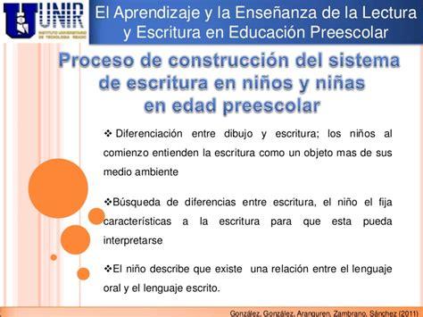 situacion didactica para fomentar la lectura en preescolar el aprendizaje y la ense 241 anza de la lectura y la escritura