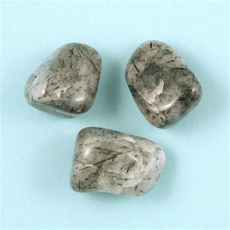 tourmaline quartz tumbled polished gemstones