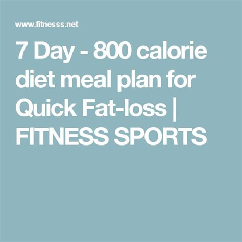 7 Day Detox Diet Sle Menu by 7 Day 800 Calorie Diet Meal Plan For Loss