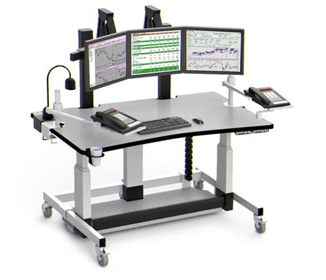 Variable Height Computer Desk Height Adjustable Single Level Computer Desk With Monitor Platform Afcindustries