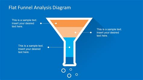 Flat Funnel Analysis Diagram Template For Powerpoint Funnel Diagram Ppt