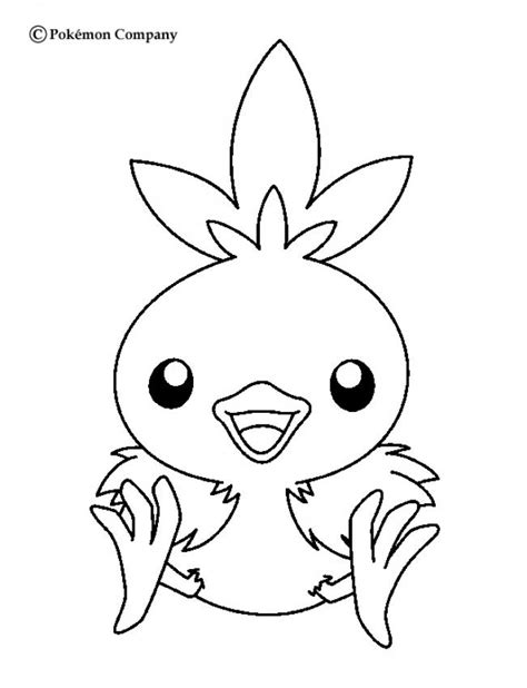 pokemon coloring pages torchic torchic coloring pages hellokids com