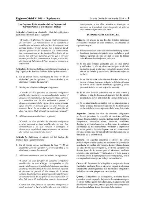 feriados ecuador 2016 dias feriados segun la secretaria trabajo 2016