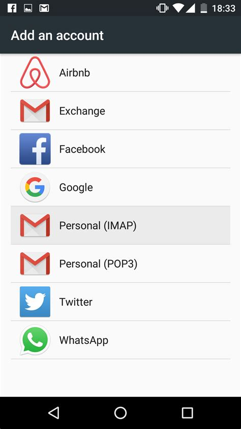 how to add email to android configure an email account on android 6 marshmallow help center