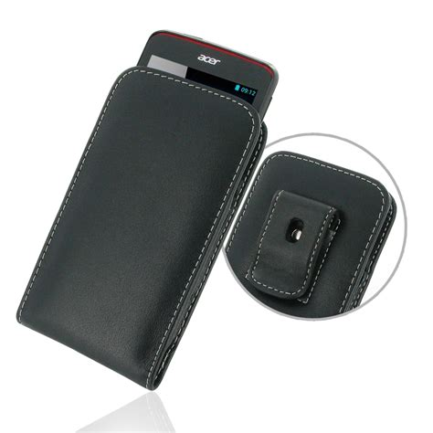 Leather Flip Acer Liquid Z4 acer liquid z4 pouch with belt clip pdair sleeve